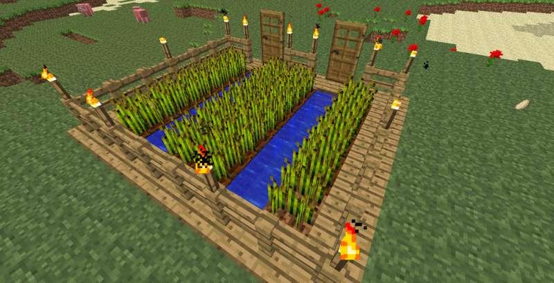 Как сделать ферму в minecraft пшеницы