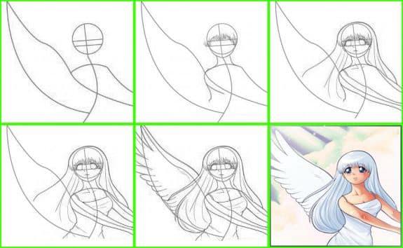 Фото как рисовать поэтапно аниме