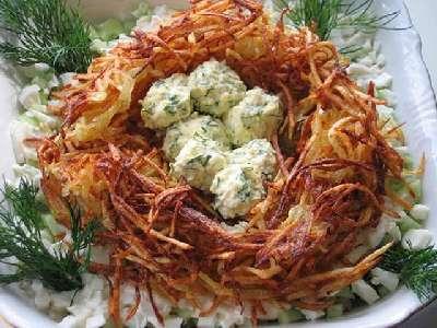 Салат гнездо глухаря готовим за 5 минут