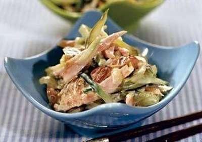 Салат копченая курица домашний
