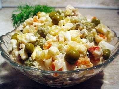 Рецепты салата оливье за 5 минут