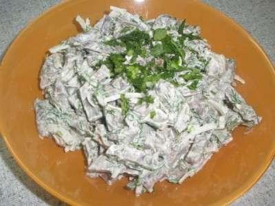Салат с сердцем свиным все рецепты готовки дома