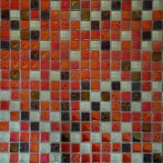 Стеклянная мозаика на сетке