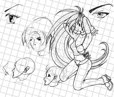 Как изобразить рисунок аниме
