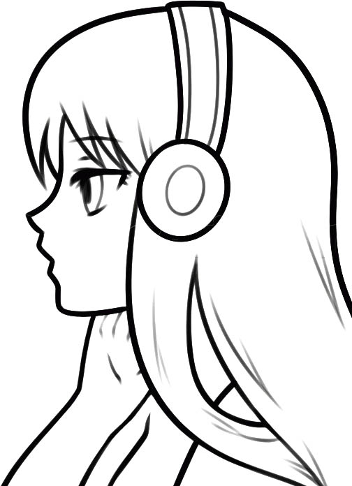 легкие картинки для рисования аниме