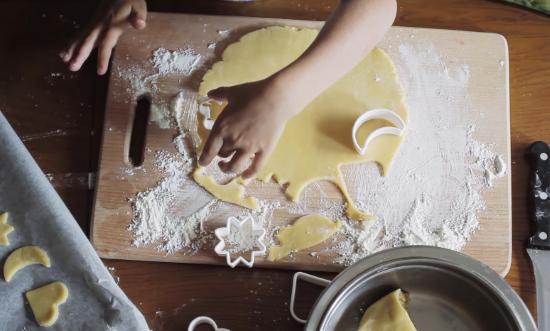 песочное печенья на маргарине с творогом