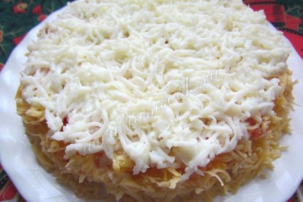 Салат снежинка рецепт