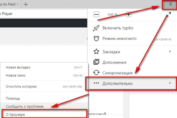 обновить Adobe Flash Player в Яндекс Браузере