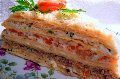 Торт – салат на день рождения